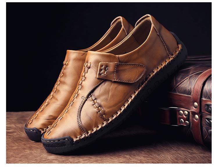 メンズ スリッポン ローファー ドライビングシューズ 紳士靴 カジュアル ローカットJJRUS_画像1