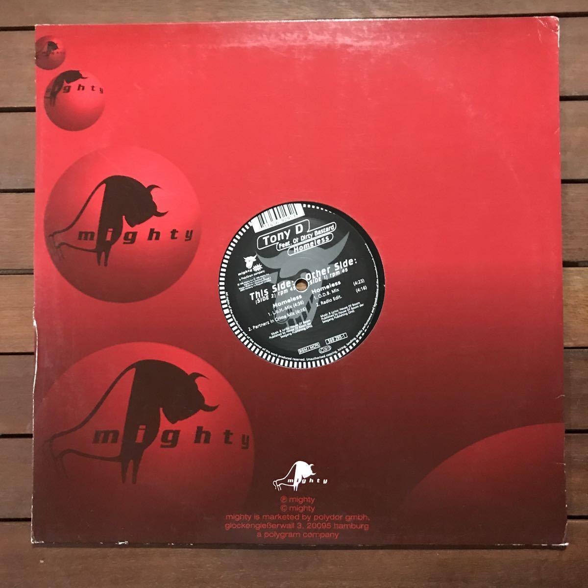 ●【eu-rap】Tony D / Homeless[12inch]オリジナル盤《4-2-68》