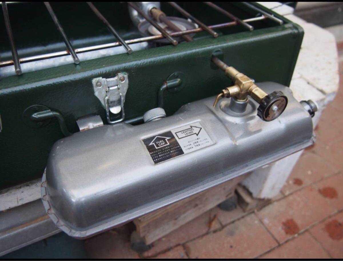 コールマンツーバーナーパワーハウス ツーバーナー 災害時ガソリン使用可 中古