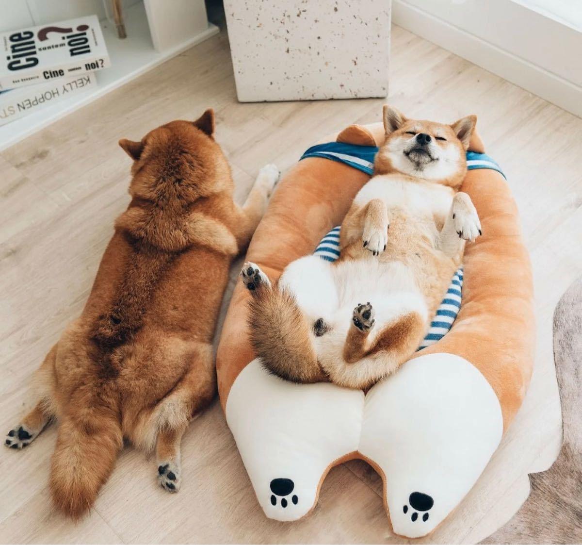 ペットベッド 猫 小型犬  可愛い もこもこ  一体型 78*50