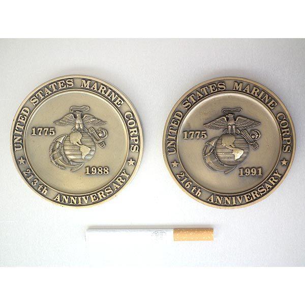 米海兵隊・岩国航空基地・バースデーメダル2個セット(1988年・1991年)・袋入り・処分品_画像3