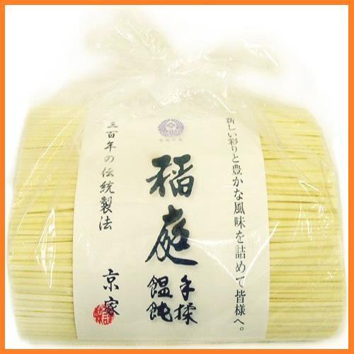 送料無料* 京家 稲庭手揉饂飩(いなにわ うどん) お徳用1kg袋詰 てもみ 三百年の伝統製法 お得品_画像1