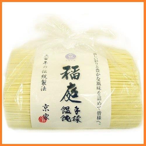 送料無料* 京家 稲庭手揉饂飩(いなにわ うどん) お徳用1kg袋詰 てもみ 三百年の伝統製法 お得品_画像2