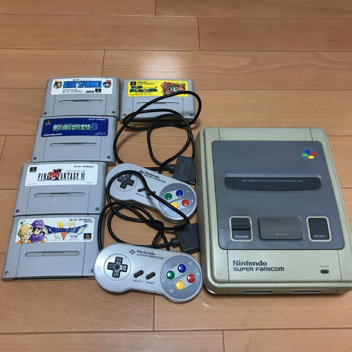Nintendo スーパーファミコン本体 ソフト5本