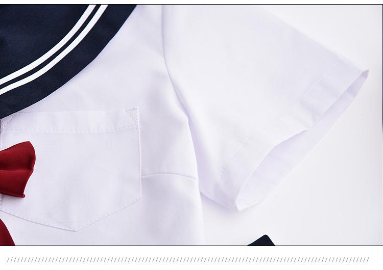 セーラー服 長袖 上着+スカート+リボンセット コスチューム コスプレ衣装 女子高生 学生服 ハロウィン仮装 制服 学園祭 上下_画像4