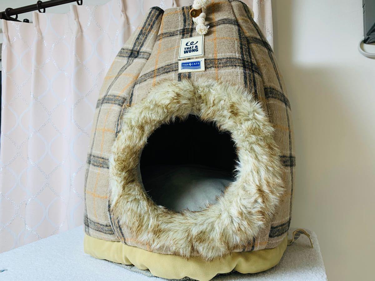 猫 ベッド 冬用 クッション付き  ペットハウス