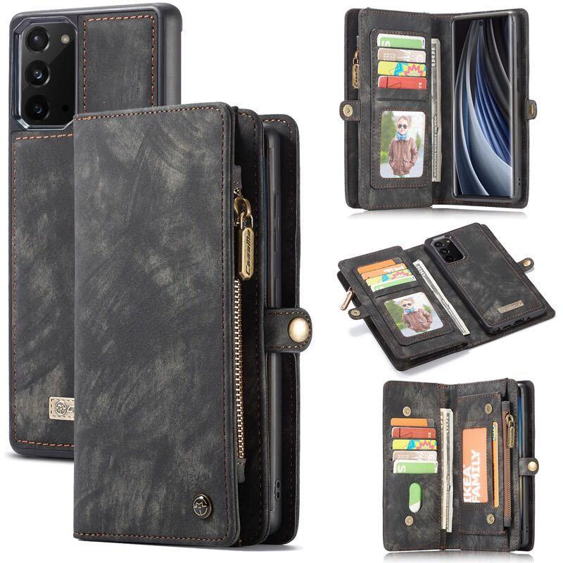 Galaxy Note20 Ultra レザーケース ギャラクシー ノート20 ウルトラ ケース SC-53A お財布付き 取り外す可能 カード収納 D