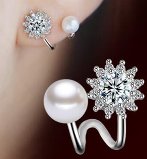A097 ピアス アクセサリー 女性 925スターリングシルバー ジュエリー 模擬真珠のファッションジュエリー 女の子 | 1円即決価格!_この商品はピアスです。