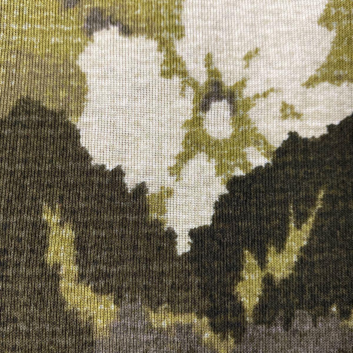 生地282 ニット 綿 迷彩花柄