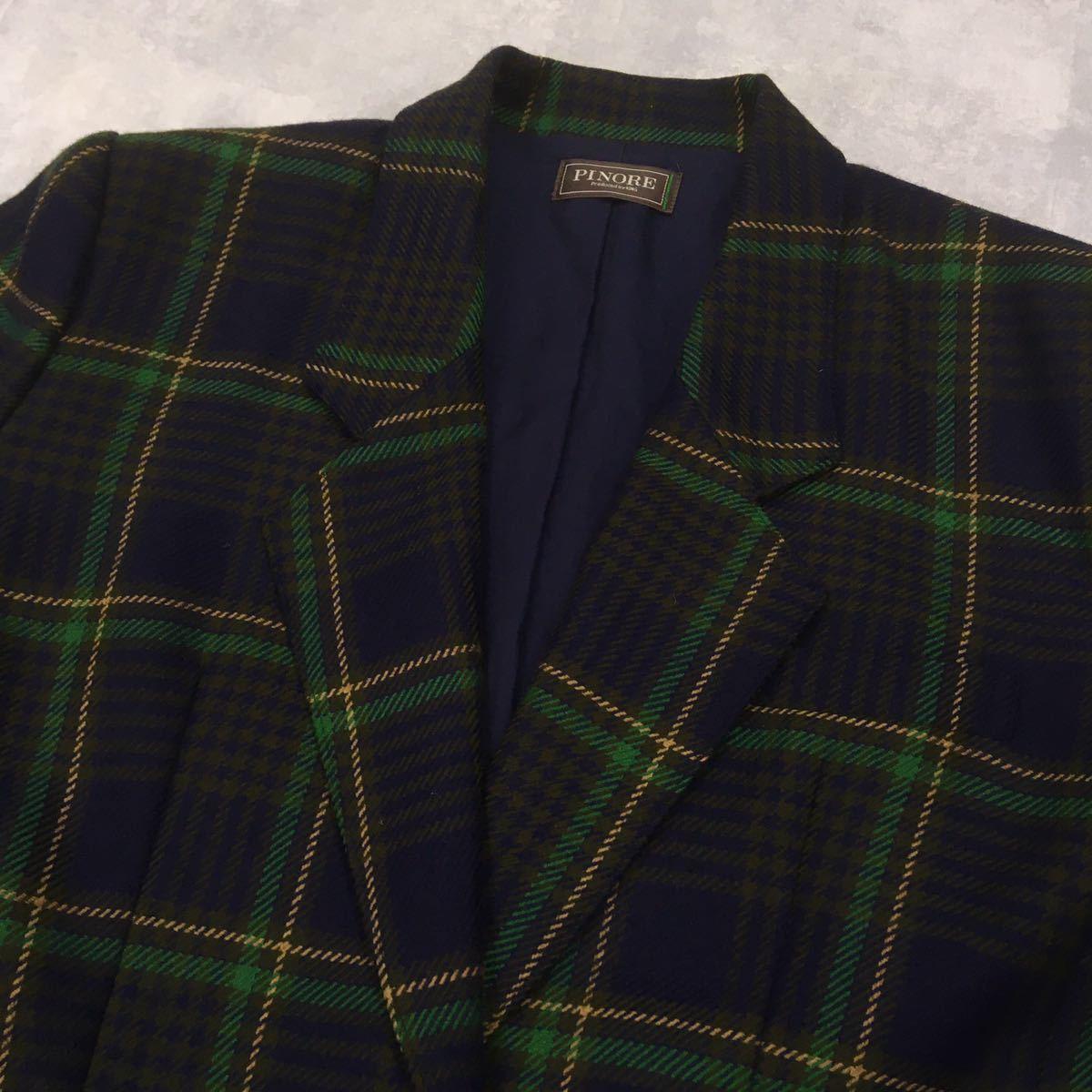 PINORE ピノーレ 株式会社キング スーツスカート セットアップ テーラードジャケット チェック ウール レディース サイズ9号
