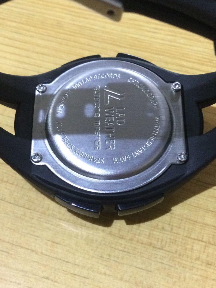 ラドウェザー LAD WEATHER デジタル腕時計 スポーツウォッチ_画像3