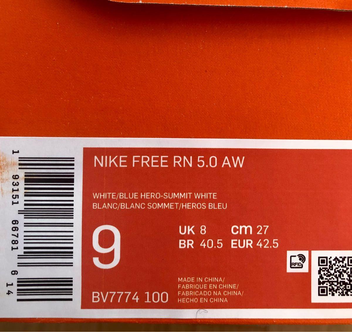 NIKE フリーラン 5.0AW 27.0cm