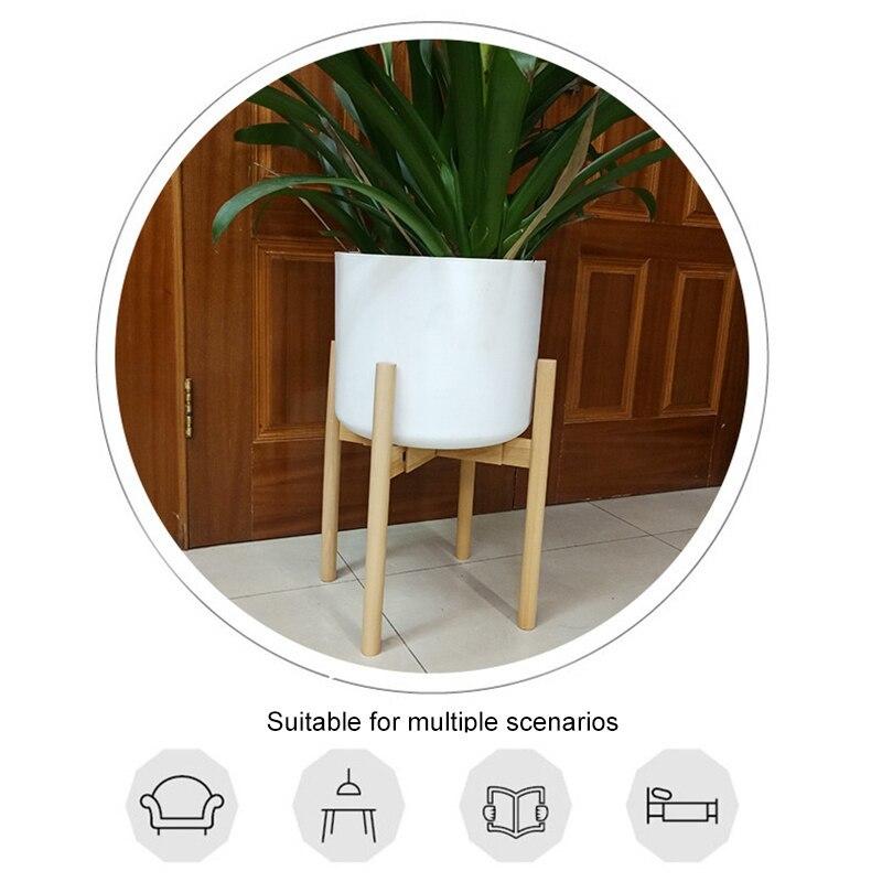 ◆最安にします◆植物スタンド おしゃれ ホルダー 植木鉢 スタンド 観葉植物 ラック 調整可能 木製 インテリア 植物 ギフト AT9371_画像2