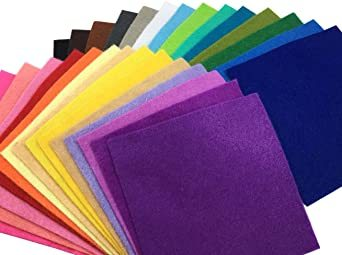44枚 30cm x 20cm 28枚 柔らかいタイプ 羊毛フェルト クラフト DIY手芸用 不織布 選べるサイズ1_画像2