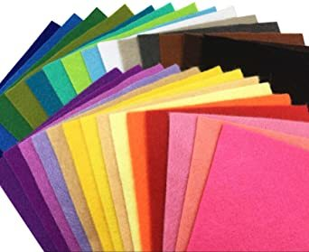 44枚 30cm x 20cm 28枚 柔らかいタイプ 羊毛フェルト クラフト DIY手芸用 不織布 選べるサイズ1_画像1