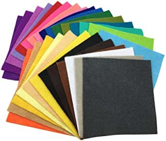 44枚 30cm x 20cm 28枚 柔らかいタイプ 羊毛フェルト クラフト DIY手芸用 不織布 選べるサイズ1_画像5