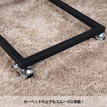 ヴィンテージ サイドテーブル VASAGLE サイドテーブル ソファ ナイトテーブル 広い天板 キャスター付き 幅50x奥行35_画像6