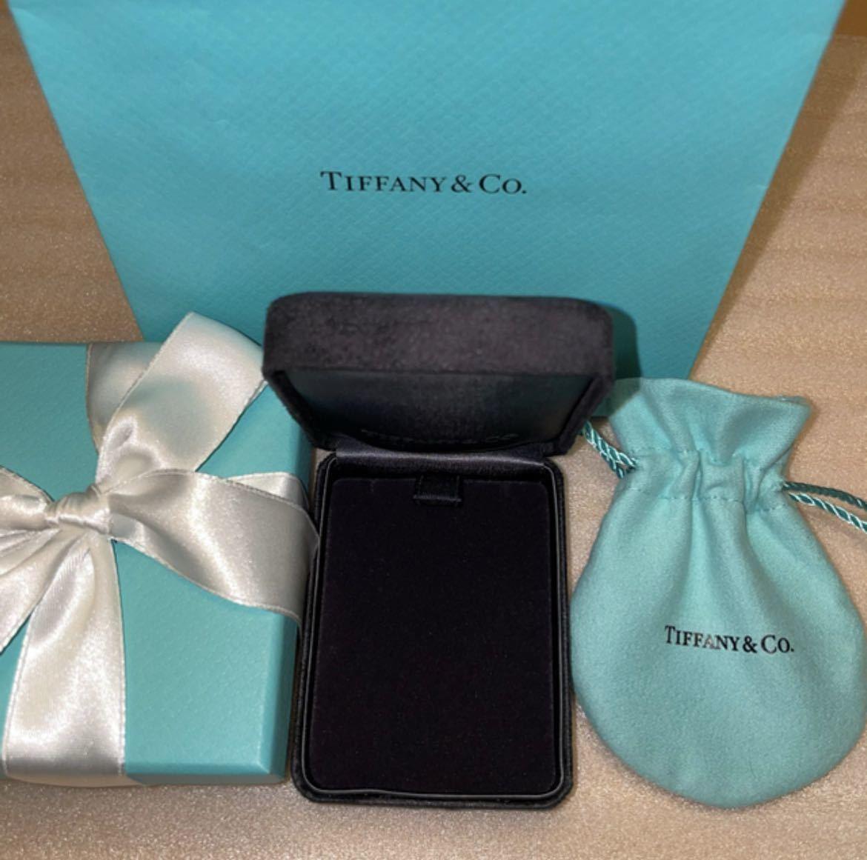 【未使用 ・保管品】ティファニー ネックレスケース ボックス アクセサリー 空箱 巾着 紙袋