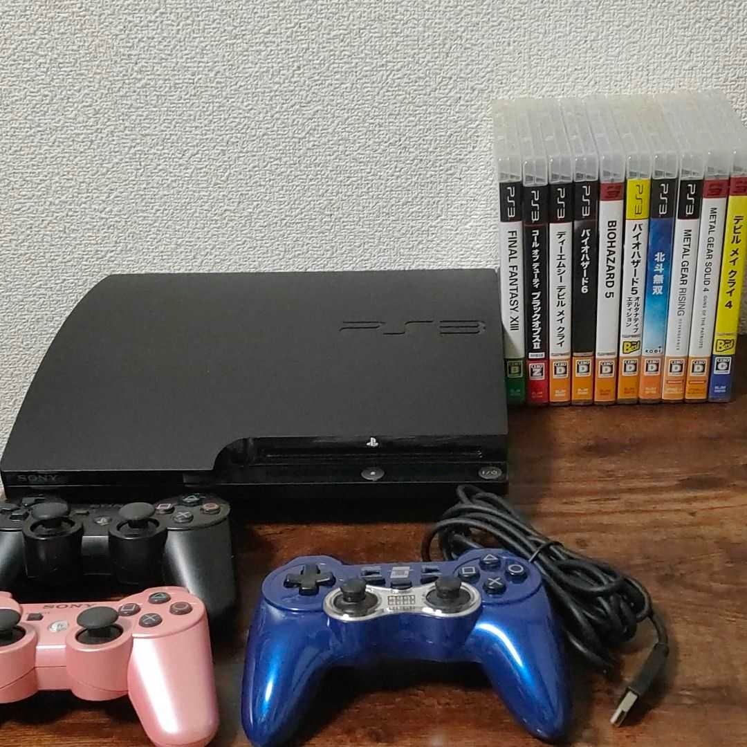 PlayStation3 CECH-2000A 純正コントローラー ソフト10本