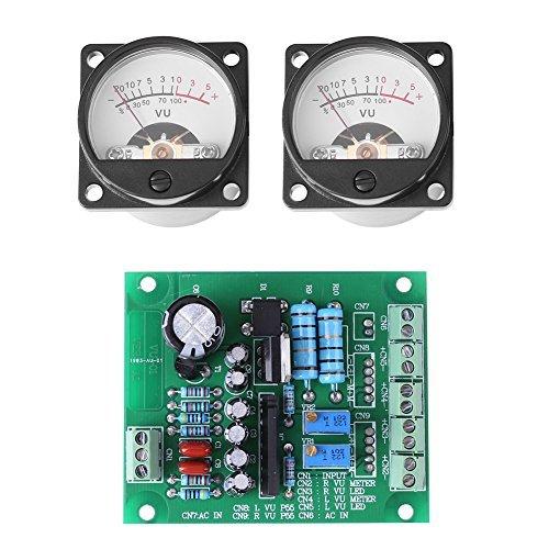 Greatangle Doppio Stereo VU Meter Driver Board Amplificatore Db Audio Level AC 12V Input Retroilluminato Verde