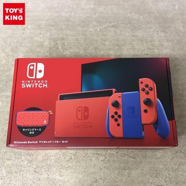 1円~ 動作確認済 初期化済 Nintendo Switch 本体 HAC-001(01) マリオレッド×ブルー セット / ニンテンドースイッチ