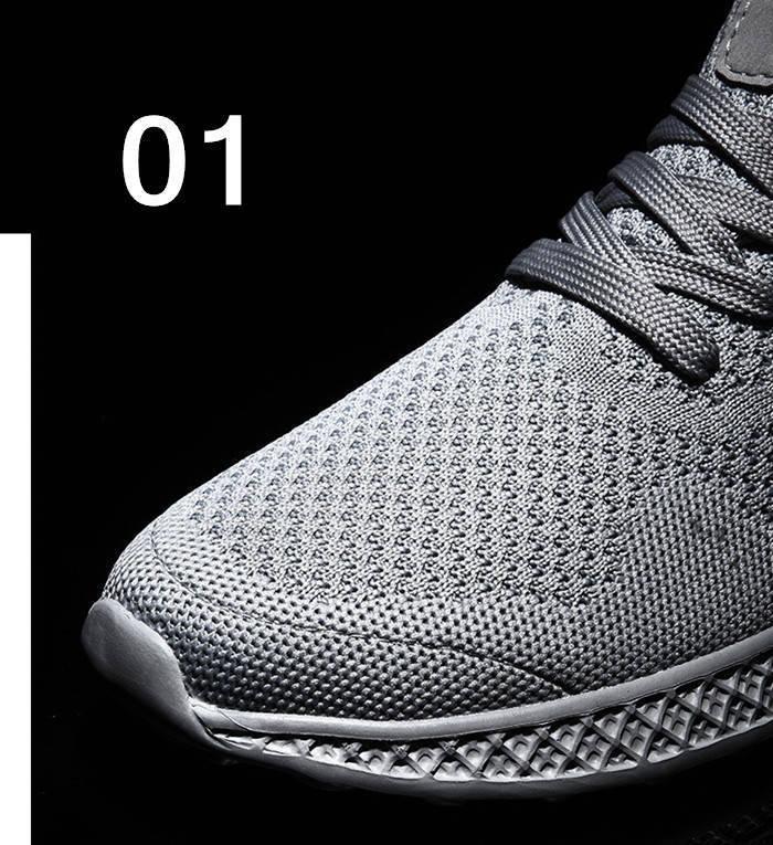 【在庫処理】スニーカー 通気性 レースアップ メンズカジュアルデッキシューズ ウォーキングシューズ 軽量 紳士 春夏靴 ms0080 灰色 25.0cm_画像6