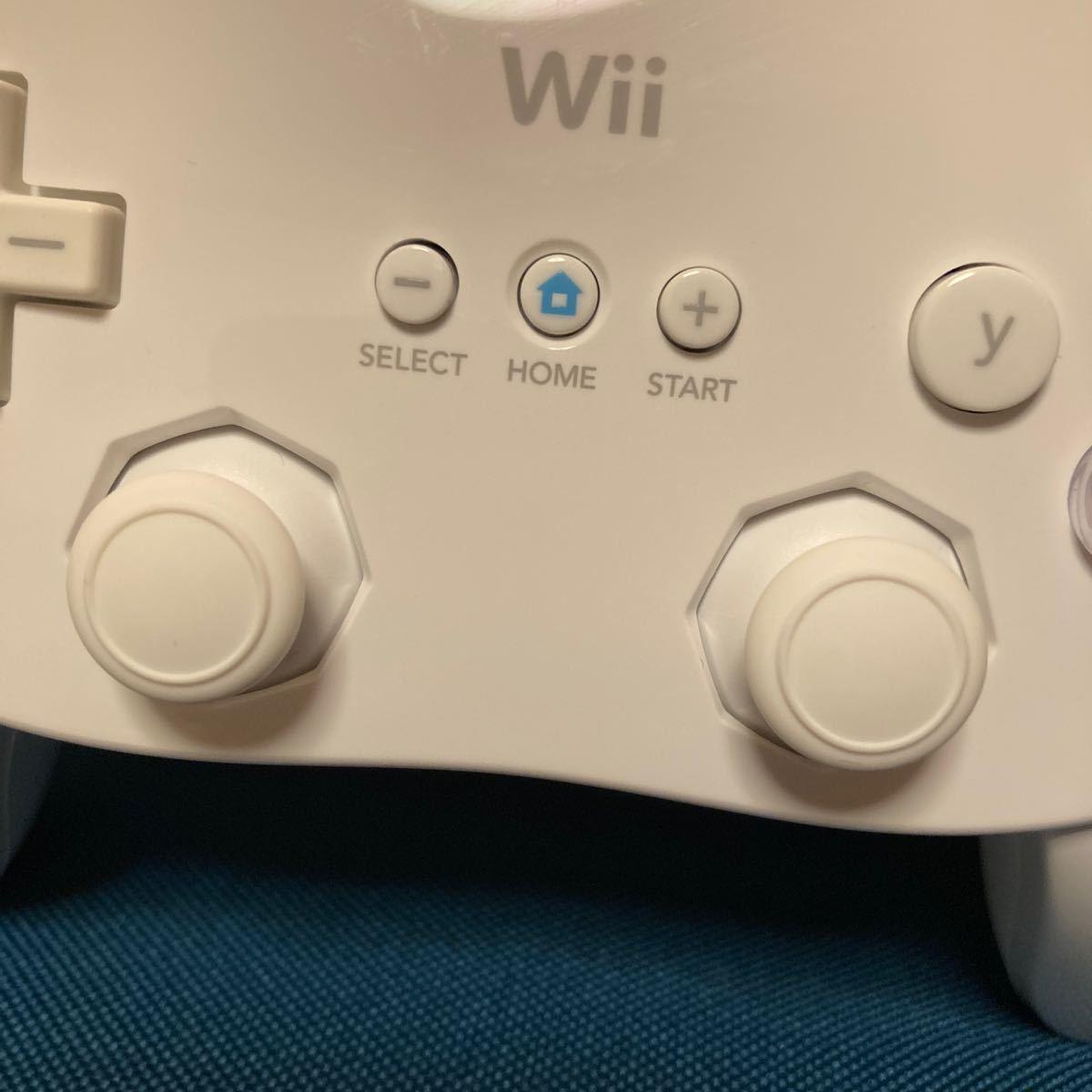 Wii クラシックコントローラ シロ 任天堂Wii ホワイト