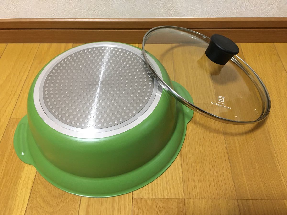 IH対応 卓上鍋24cm グリーン ゆとりの空間
