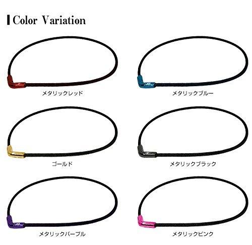 メタリックブラック 50cm ファイテン(phiten) ネックレス RAKUWAネックX50 Vタイプ_画像4