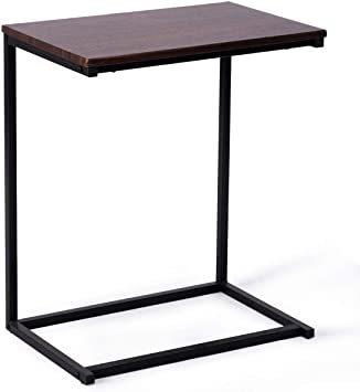 ブラウン56969 Costway サイドテーブル テーブル ナイトテーブル カフェテーブル ソファサイド ベッドサイド 幅55_画像1