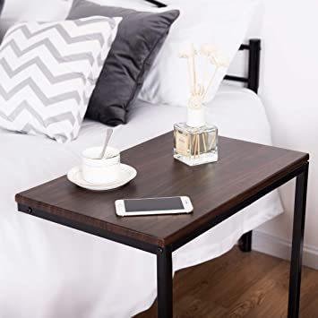 ブラウン56969 Costway サイドテーブル テーブル ナイトテーブル カフェテーブル ソファサイド ベッドサイド 幅55_画像7