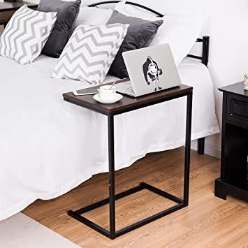 ブラウン56969 Costway サイドテーブル テーブル ナイトテーブル カフェテーブル ソファサイド ベッドサイド 幅55_画像6
