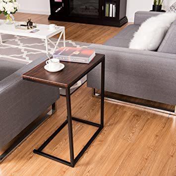 ブラウン56969 Costway サイドテーブル テーブル ナイトテーブル カフェテーブル ソファサイド ベッドサイド 幅55_画像5