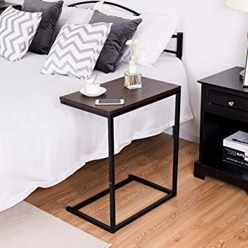 ブラウン56969 Costway サイドテーブル テーブル ナイトテーブル カフェテーブル ソファサイド ベッドサイド 幅55_画像4
