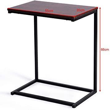 ブラウン56969 Costway サイドテーブル テーブル ナイトテーブル カフェテーブル ソファサイド ベッドサイド 幅55_画像3