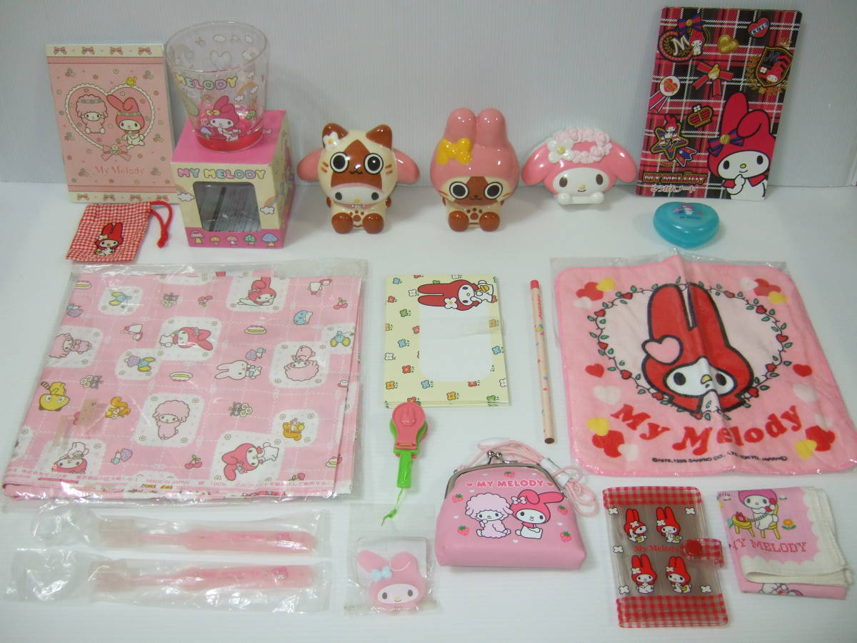 My Melody mon handle i-ll -× My Melody savings box mushrooms house candy glass purse cloth is brush Note set