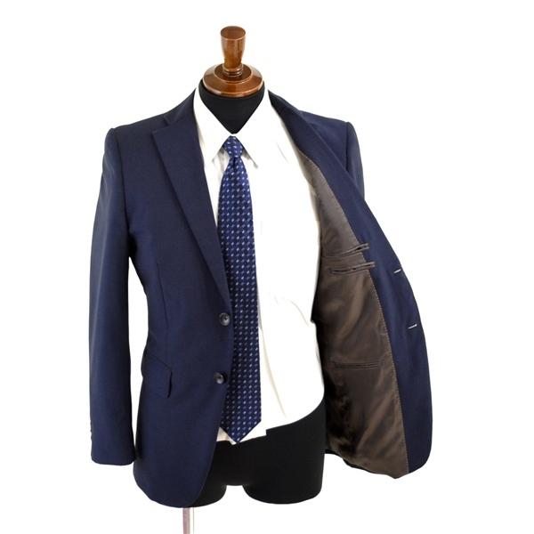 1UB113】P.S.FA 2つボタン シングルスーツ Y5 M ダークネイビー 濃紺 無地 袖口4つ釦 背抜き ノータック 細身 スリム PC720105-85_画像2