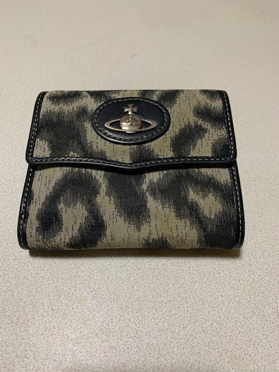 VivienneWestwood ヴィヴィアンウエストウッド 三つ折り財布 がま口 レオパード柄 ウォレット 財布