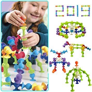 Tebrcon 約50ピース ブロック おもち 子供 積み木 知育玩具 セット 早期開発 指先訓練 男の子 女の子 誕生日のプ_画像7