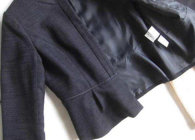 ◆ナチュラルビューティーベーシック プラステ  PLST セットアップ ノーカラー ジャケット スカート セレモニー_画像4