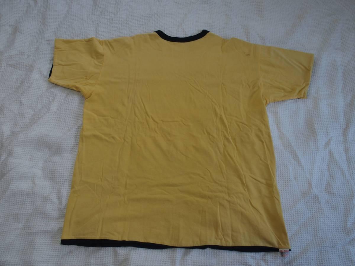 旧リアルマッコイズ リバーシブルTシャツ Breckenridge Wrestling ゴールド サイズ46 XL フリーホイーラーズ バーンストーマーズ_画像2