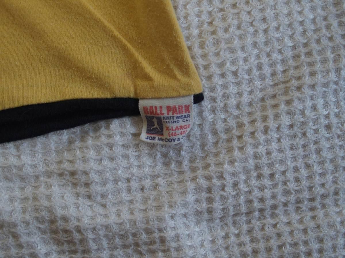 旧リアルマッコイズ リバーシブルTシャツ Breckenridge Wrestling ゴールド サイズ46 XL フリーホイーラーズ バーンストーマーズ_画像5
