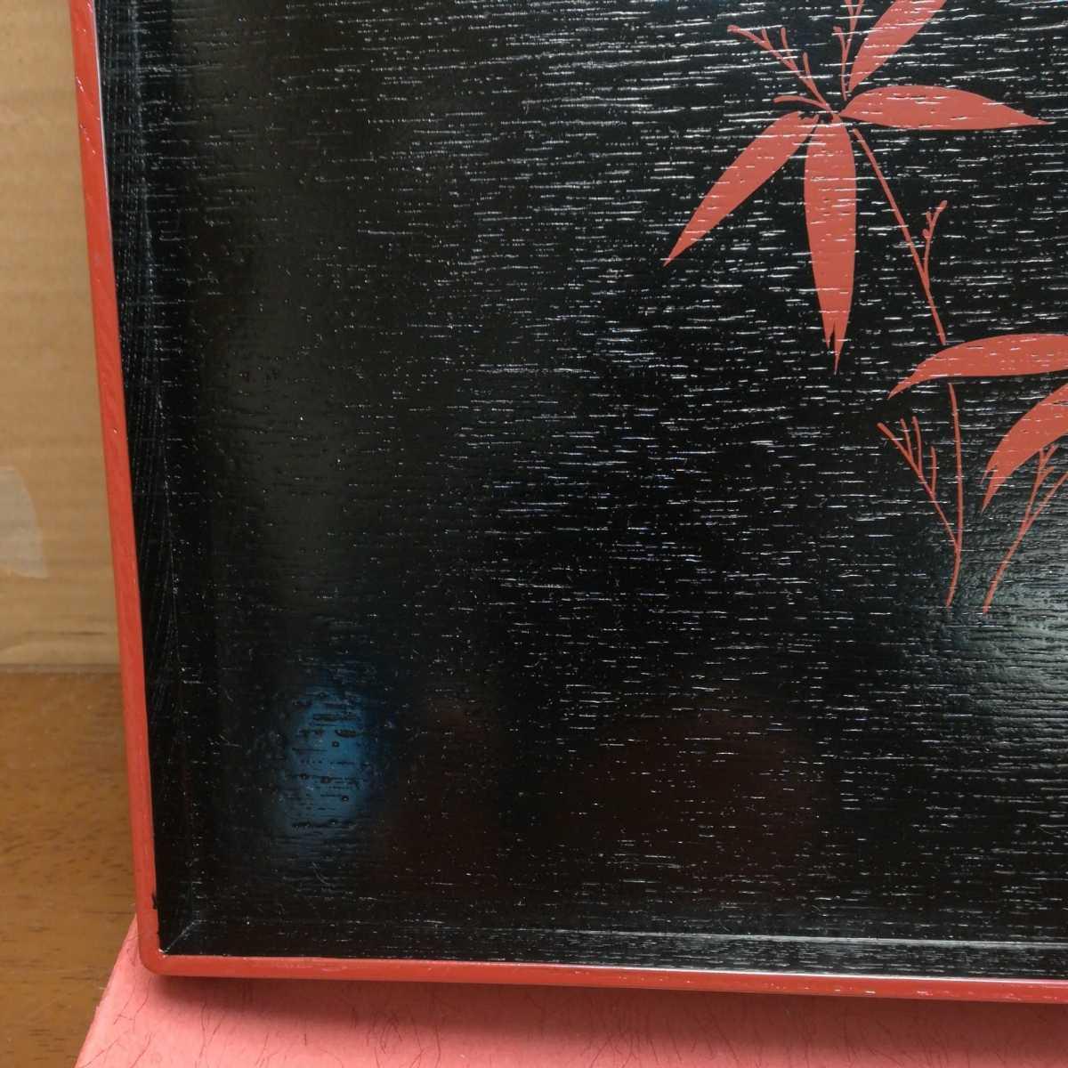 木製 漆器 お盆 煎茶道具 _画像3