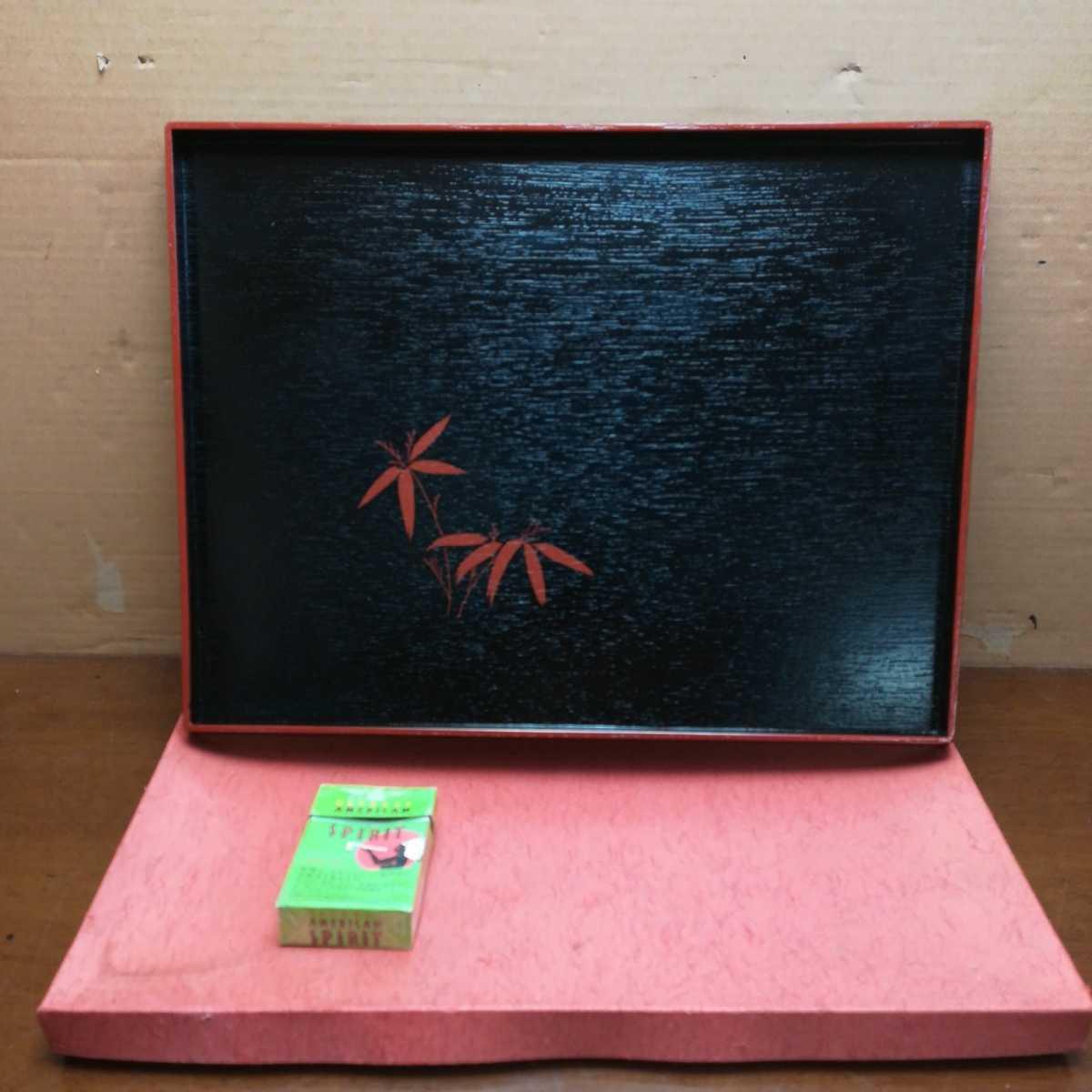 木製 漆器 お盆 煎茶道具 _画像1