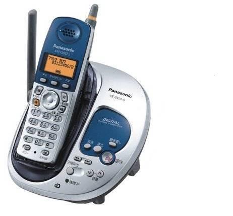 未使用■パナソニック 留守番コードレス電話機 VE-SV03DW シルバー 子機なし_画像1
