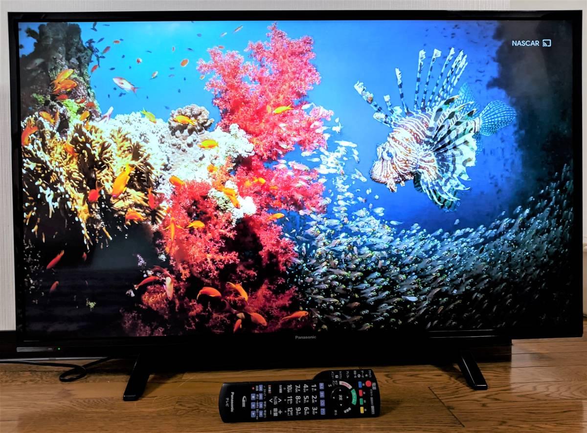 ■美品■パナソニック 43V型 4K 液晶テレビ 2018年製 取扱説明書付 TH-43FX500 無線LAN 2画面 YouTube Amazonプライム Netflix Webブラウザ