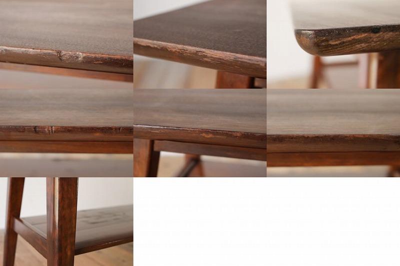 無垢材 センターテーブル サイド レトロ ヴィンテージ 座卓/カリモクUS古家具古民家骨董和製アンティーク文机/KBK11067_画像10