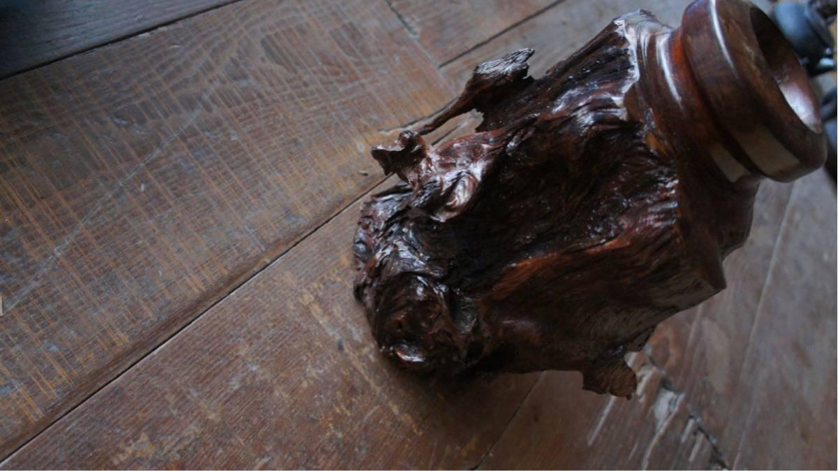 流木 壺 置物 ビンテージ 昭和レトロ_画像5
