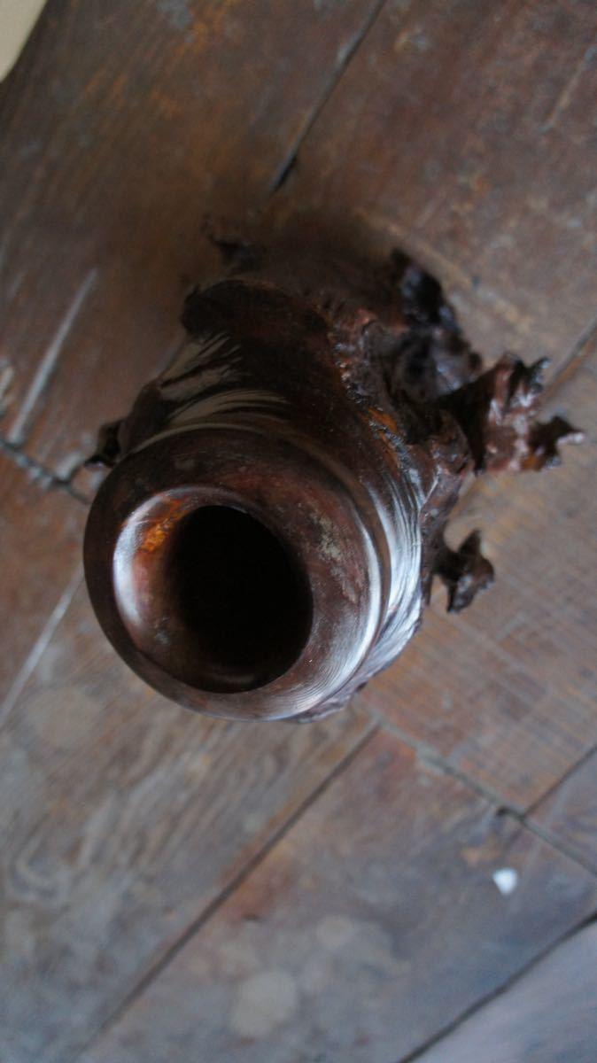 流木 壺 置物 ビンテージ 昭和レトロ_画像2