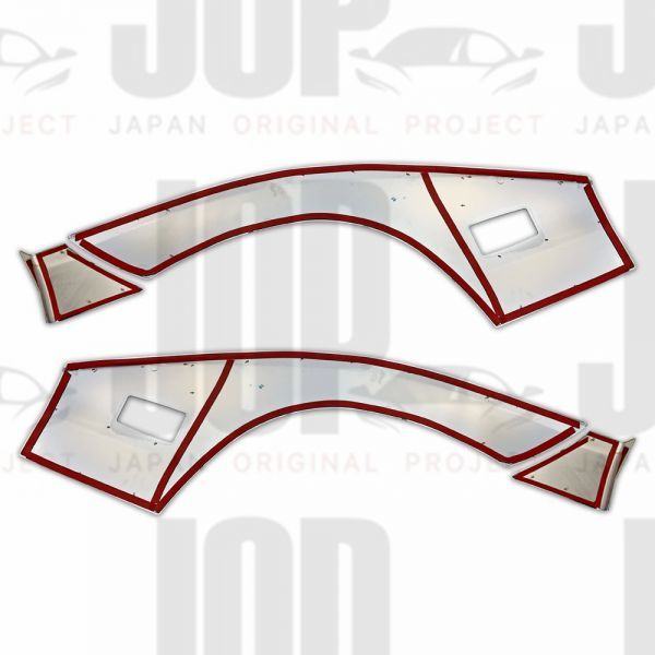 日野 デュトロ H11.4~ ダイナ トヨエース メッキ フェンダー ガーニッシュ パネル カバー プロテクター 標準 新品_画像4